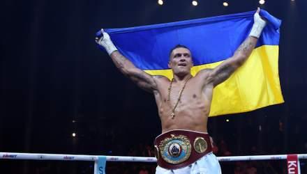 Усик посвятил Украине победу над Хуком
