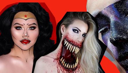 Страшный макияж на Хэллоуин 2018: оригинальные идеи в видео и фото