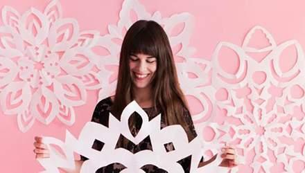 Як вирізати сніжинку з паперу: фото та відео