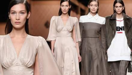 Чим вразила нова колекція Fendi: стильні образи з Тижня моди в Мілані