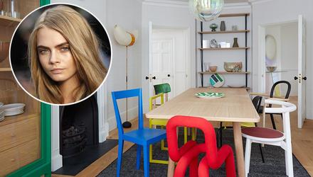 Как выглядит квартира модели Кары Делевинь в Лондоне: яркая фотогалерея