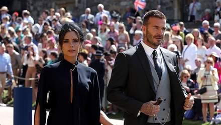 Девід та Вікторія Бекхем завітали на королівське весілля: стильні фото