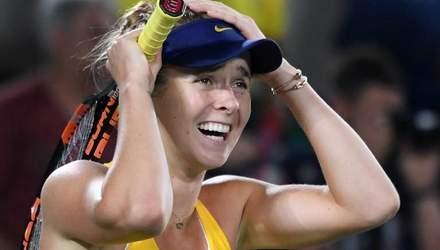 Українська тенісистка Світоліна перемогла першу ракетку світу у Римі