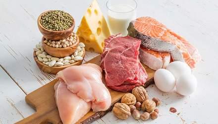 Які продукти містять білок: список