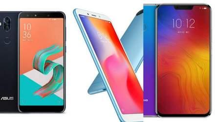 ТОП-3 лучших смартфона недели: новинка от Asus, Xiaomi Redmi 6 и Lenovo Z5