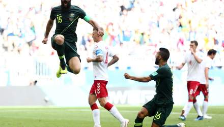 Данія – Австралія: відео голів та моментів матчу Чемпіонату світу