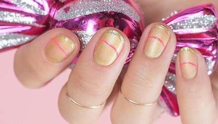 9 ідей золотого манікюру для коротких нігтів: фото