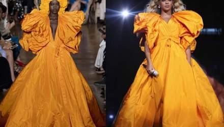Бейонсе одягла розкішну сукню кольору яєчного жовтка від Valentino: фото