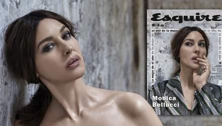 Идеал женской красоты: 53-летняя Моника Беллуччи снялась на обложку журнала Esquire