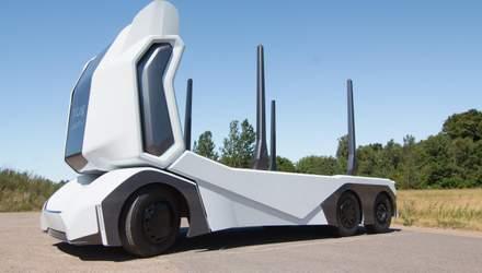 T-log – беспилотный лесовоз, у которого даже кабины для водителя нет