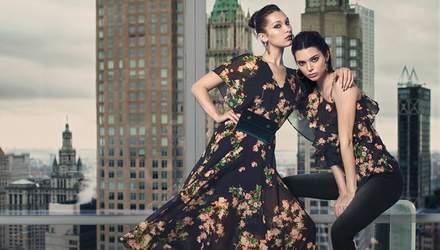 Белла Хадід і Кендалл Дженнер у трендових образах знялися для бренду Ochirly