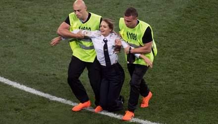 Суд виніс вирок активістці, яка вибігла на поле під час фіналу ЧС-2018
