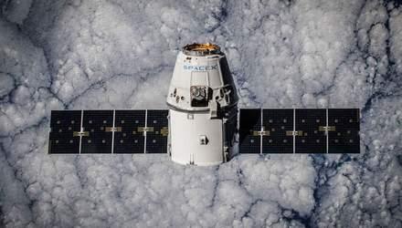 Космический корабль Dragon совершил посадку в Тихом океане после выполнения миссии на МКС