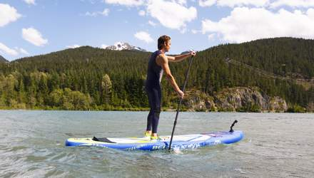 Установление рекорда: украинец решил пройти тысячу километров по воде