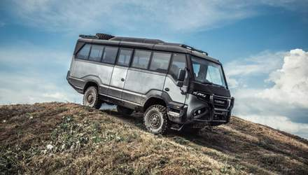 Як він виглядає: перший у світі автобус-позашляховик розроблений українцями