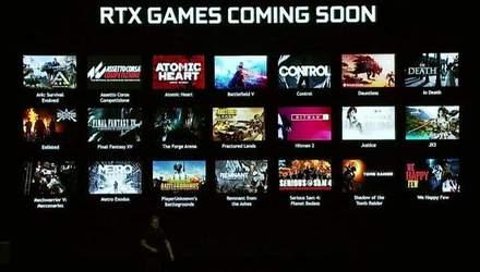Які ігри отримають підтримку нової технології NVIDIA RTX: повний список