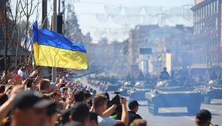 """Парад раздора: """"Враг не побежден"""" против """"Украина выстояла"""""""