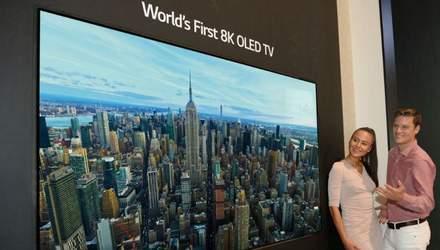 Единственный в мире: LG показала первый OLED-телевизор с разрешением 8K