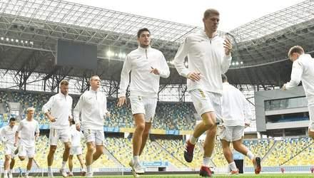 Сборная Украины провела заключительную тренировку перед матчем со Словакией: фото