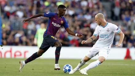 Барселона – ПСВ: видео голов и моментов матча