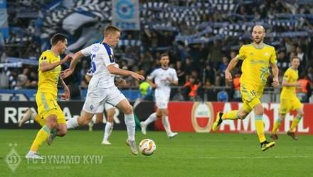 Динамо – Астана: видео голов и моментов матча Лиги Европы