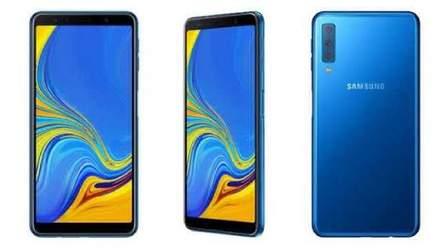 Samsung представила Galaxy A7 (2018), свій перший смартфон із потрійною камерою