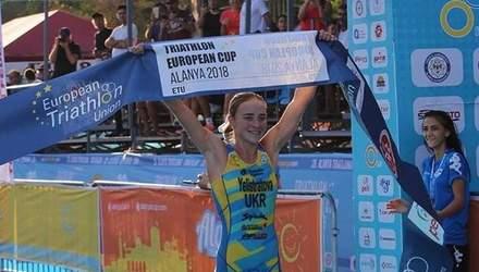 Українка Єлістратова здобула золото на етапі Кубка Європи з тріатлону