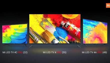 Xiaomi представила 3 новых смарт-телевизора: цена стартует от 207 долларов