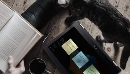 Acer представила в Україні ноутбуки-трансформери: характеристики і ціни