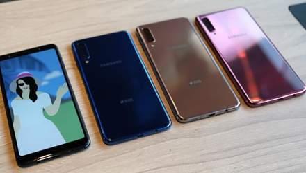 Samsung Galaxy A9 (2018) – первый в мире смартфон с четырьмя основными камерами