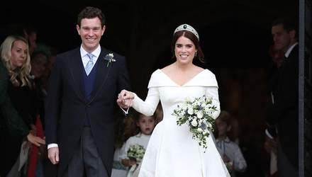 Весілля принцеси Євгенії та Джека Бруксбенка: у мережі з'явились розкішні фото святкового торта
