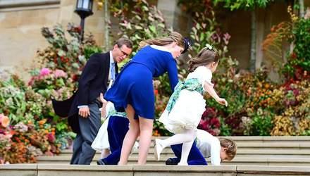 Внучка Єлизавети ІІ засвітила білизну під час королівського весілля: пікантні фото