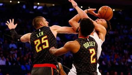 """Українець Лень дебютував за """"Атланту"""" в новому сезоні НБА, і його команда програла"""