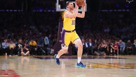 """Михайлюк дебютував за """"Лейкерс"""" у НБА, команда зазнала третьої поразки поспіль: відеоогляд"""