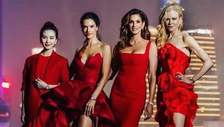Кроуфорд, Амбросіо та Кідман приголомшили червоними сукнями у Шанхаї: фото