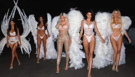 """Сестри Кардашян приміряли сексуальні образи """"ангелів"""" Victoria's Secret: звабливі фото"""