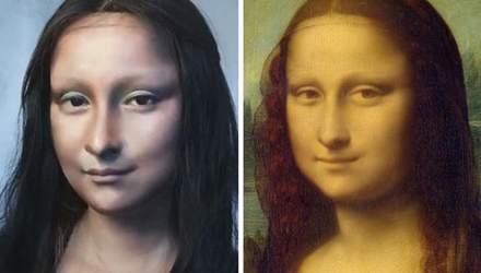 Девушка превратила себя в Мону Лизу с помощью макияжа: видео