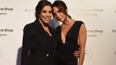 Звездные подруги: Виктория Бекхэм поддержала Еву Лонгорию на благотворительном вечере
