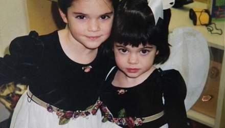 Кайлі Дженнер показала рідкісні дитячі фото з сестрою Кендалл