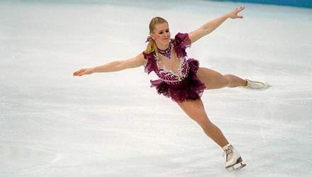 Оксана Баюл, первая олимпийская чемпионка Украины