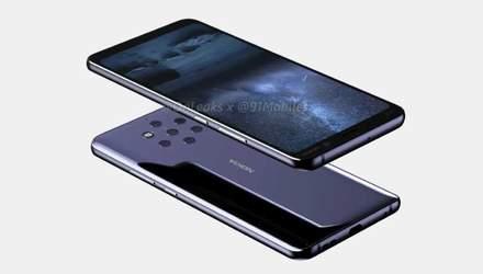 Nokia 9 с рекордным количеством камер появилась на видео
