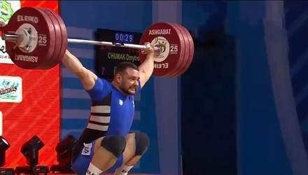 Украинец Дмитрий Чумак стал вице-чемпионом мира по тяжелой атлетике