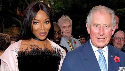Принц Чарльз и Наоми Кэмпбелл поразили общим выходом: фото