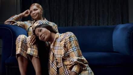 Праздник приближается: Наоми Кэмпбелл с мамой снялись для рекламной кампании Burberry – видео