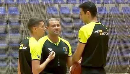 Троє українських арбітрів були відсторонені від суддівства Суперліги з баскетболу