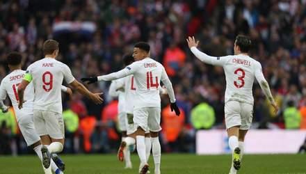 Англія у неймовірному матчі здобула перемогу над Хорватією у Лізі націй: відео