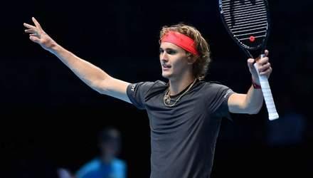 Німецький тенісист Звєрєв сенсаційно переміг на Підсумковому турнірі ATP
