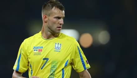 Ярмоленко визнаний найкращим гравцем збірної України у 2018 році