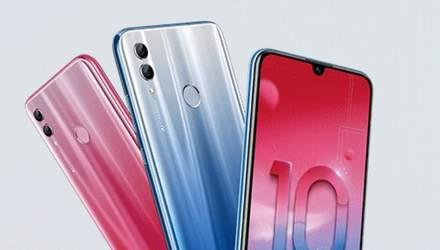 Смартфон-середнячок Honor 10 Lite представили офіційно: характеристики і ціна