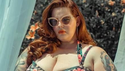 Пышнотелая модель Тесс Холлидей засветила пикантное декольте: фото